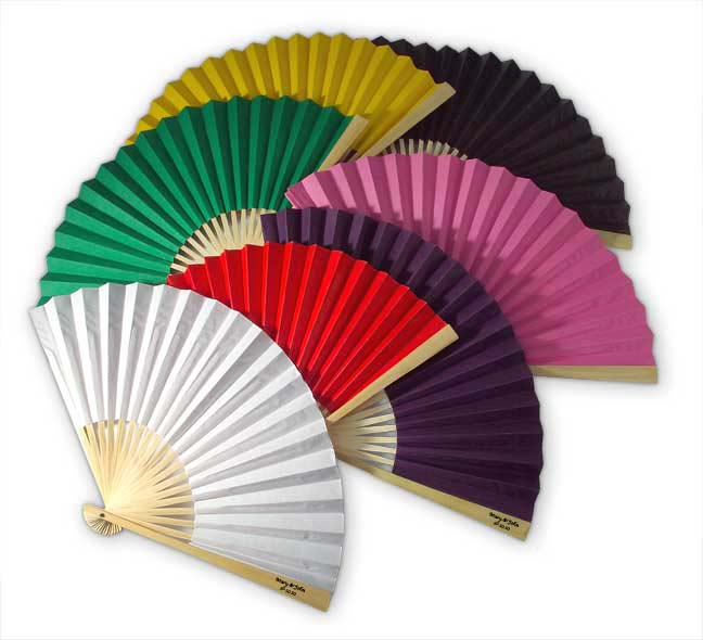 CS103 Side Printed Personalized Paper Fan