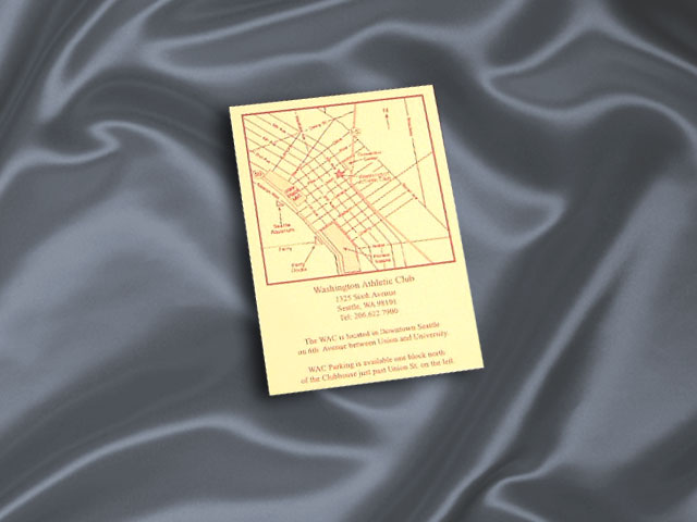 Direction Card 3x5 - 1 sided