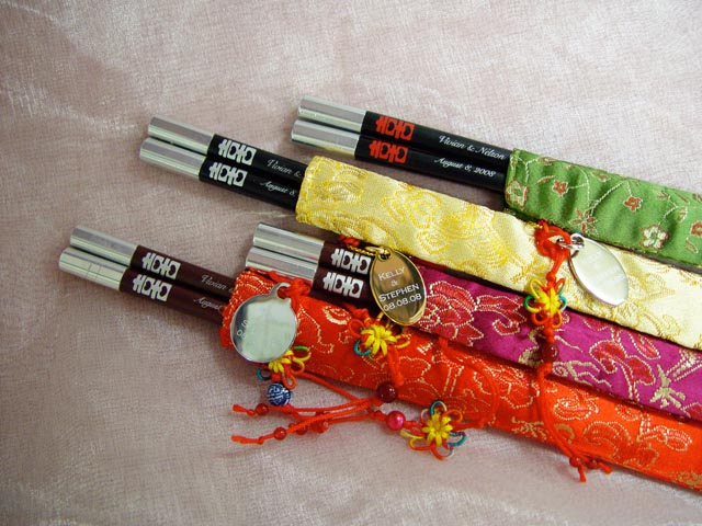H2F2316 Chopsticks with Silk Pouch