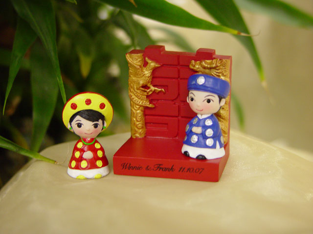 H2F2326 Vietnamese Wedding Couple Magnet