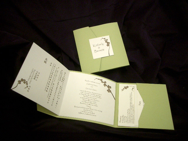 PA6117 Pocket invitation (Tropical Green)