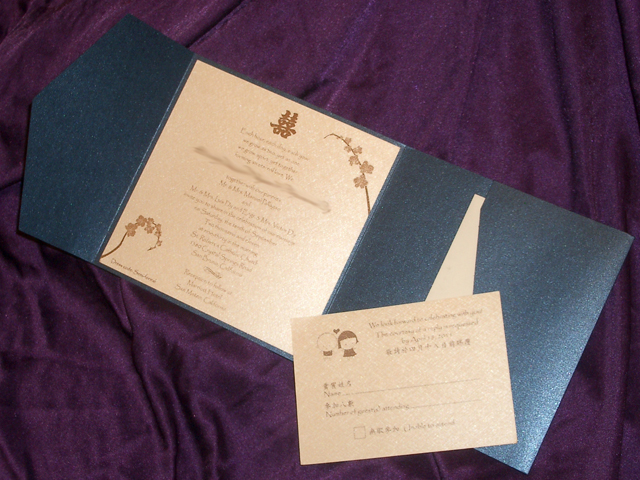 PA6216 Square Pocket invitation (Iris Blue)