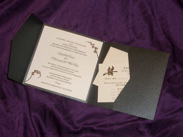 PA6227 Pocket Invitation (Onyx)
