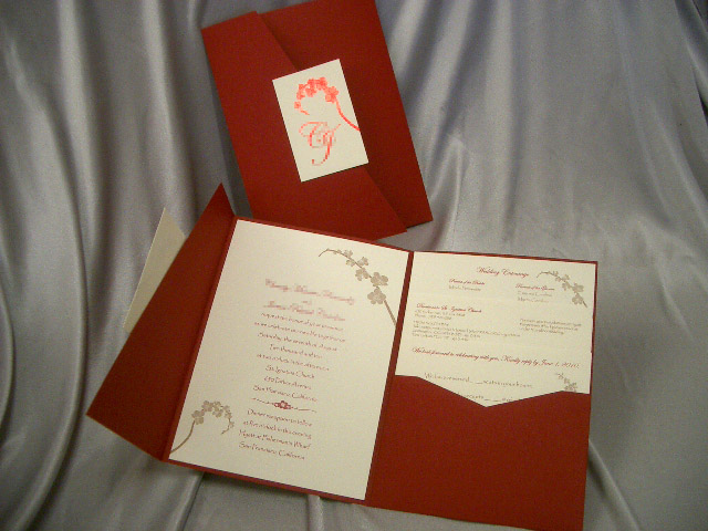 PG1127 Pocket Invitation (Red)